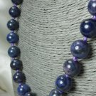Purple Dumortierite Beaded Round Gemstones 19 inch Necklace