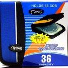 36 CD/DVD Holder with Zipper [Blue]