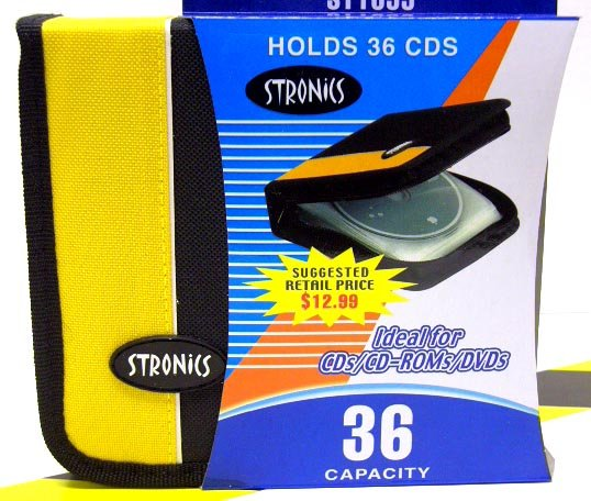 36 CD/DVD Holder with Zipper [Yellow]