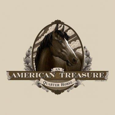American Treasure Quarter Horse T-shirt Unisex S-M-L-XL-2XL NWT Gildan Cotton