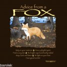 Advice From Fox Gildan Brown T-shirt Unisex S-M-L-XL-2XL NWT Cotton EarthSunMoon