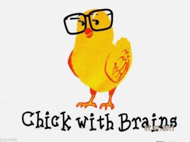 Chick Garden Bird Brain Smart T-shirt S M L XL XXL NWT NEW Soccer Volleyball