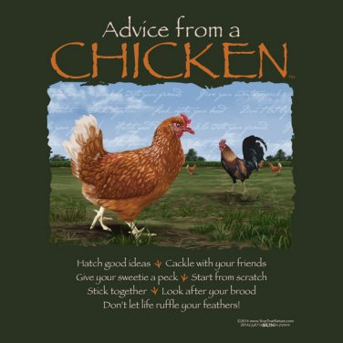 Advice From Chicken T shirt Farm Country Hen Rooster Unisex S M L XL 2XL NWT NEW