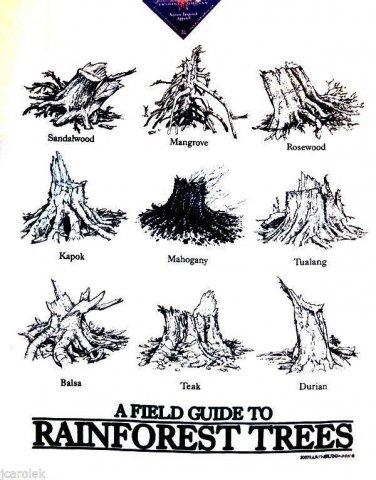 Rainforest Trees T shirt Field Guide Endangered Species Mens Womens Various NWT