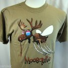 Camping T shirt Mosquito Moosquito Earth Sun Moon M Nature Humor Summer NWT