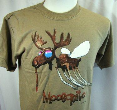Camping T shirt Mosquito Moosquito Earth Sun Moon 2XL Nature Gildan Cotton NWT