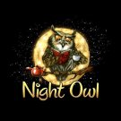 Night Owl T-shirt Unisex S-M-L-XL-2XL New with Tags Humor Insomniac Wise Fun