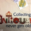 Hoarder T shirt Collecting Antiques Earth Sun Moon M Unisex NWT Beige Cotton NEW