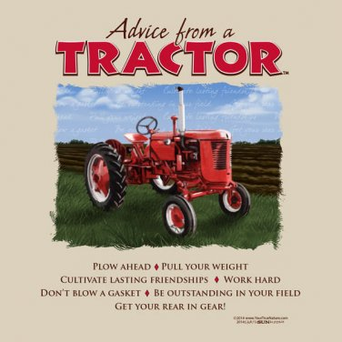 Advice From Tractor T shirt Farm Country Plow Field Unisex Small NWT NEW