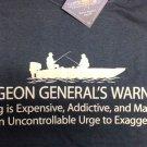 Fishing Humor T shirt Earth Sun Moon Unisex Fisherman Fun NWT Surgeon General