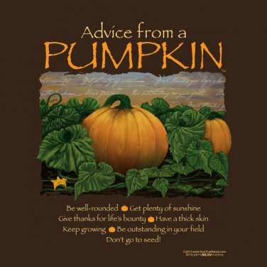 Advice From a Pumpkin T-shirt Thanksgiving Fall S-M-L-XL-2XL New w/ Tags Cotton