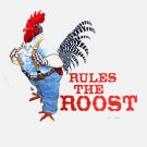 Sweatshirt Rooster Farm Humor Earth Sun Moon Large Unisex Fun NWT