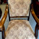 Mahogany Rocker Rocking Antique Chair Upholstered Original