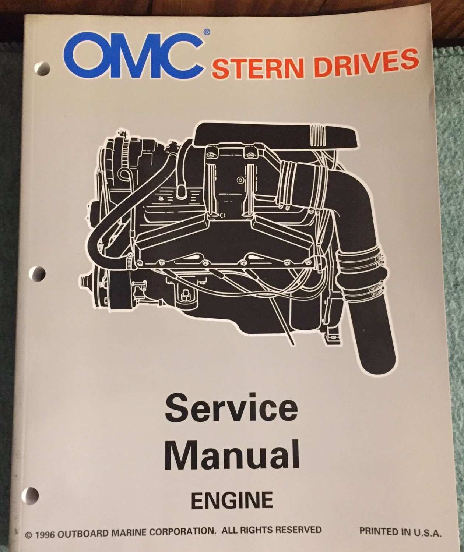 Omc Pn 507282 Stern Drives Service Manual Lk Engine 1996