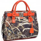 Realtree® Max-4 Camo Satchel With Lock And Tassel Accents