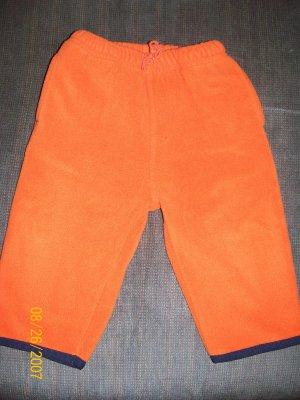 Old Navy Orange Fleece Pants Size 6-12 Months