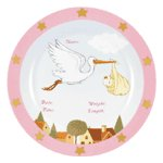 GIRL BIRTH ANNOUNCEMENT PLATE