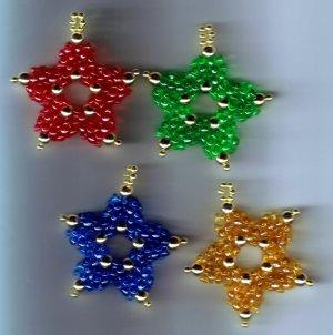 Christmas Tree Decorations Set of 4 Stars