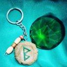Rune Pendant Key Chain made of Real Earth Clay