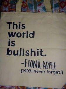 Fiona Apple Tote Bag / Mtv 90's / Retro Purse T-shirt Eco Vinyl NEW