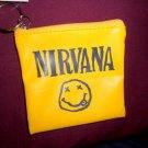Nirvana Key Chain Wallet Coin Purse Kurt Cobain Tshirt Grunge Pubk Hipster 90's