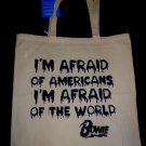 "David Bowie ""I'm Afraid of Americans"" Tote Bag / 90's 80's Hipster T-shirt Vinyl"