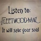 Fleetwood Mac Tote Bag / Purse / Handbag / Stevie Nicks Shirt / Retro Vtg Rock