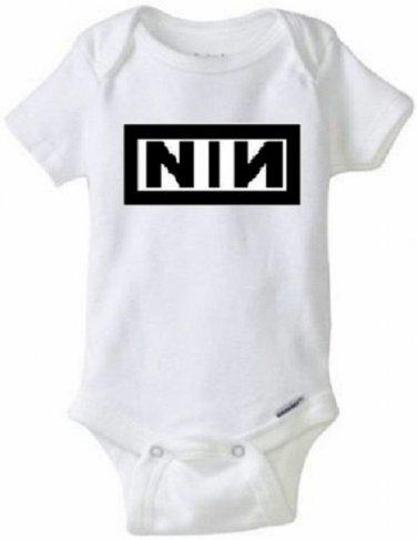 Nine Inch Nails / NIN Baby Onesie Rock Reznor 90s Goth 0,3,6,9,12,18,24 Months