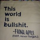 Fiona Apple Tote Bag / Funny Mtv / Retro Vinyl Concert 90's T-shirt Hipster NEW