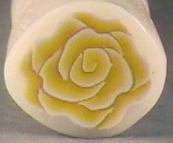 Yellow Rose Polymer Clay Cane