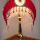Red Crescent Victorian Lampshade * MUST SEE THIS ONE!