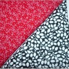 Black/White Leaves n Red Print - Two FAT Quarters (2736)