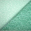 Foam Green Floral n Green Print - Two FAT Quarters (2742)