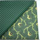 Dark Green Print w/ Dark Green & Yellow - Two FAT Quarters (2745)