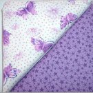 Lavendar w/Purple Stars n Butterfly Purple/Pink Print - Two FAT Quarters (2760)