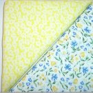 Blue-Yellow Floral n Yellow Print - Two FAT Quarters (2767)