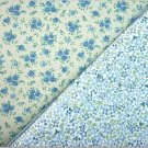 Tiny Country Blue Floral Patterns - TWO Fat Quarters (2796)