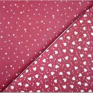 Burgandy w/ Dots n' Burgandy w/ Hearts-Dots - TWO Fat Quarters (2829)