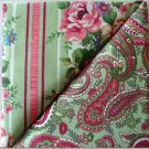 Fancy Pasley Print n' Matching Floral - TWO Fat Quarters (2836)