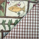 Country Lodge Collage n' Brown Gingham - TWO Fat Quarters (2851)