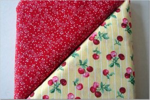 Cherries n' Red Tiny Floral  Print - TWO Fat Quarters (2875)