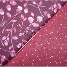 Burgandy & Dots n' Burgandy & Pink Floral - TWO Fat Quarters (2877)