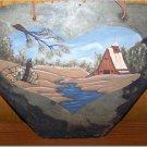 Hand Painted Slate - Heart * Barn * Creek