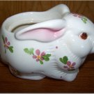 Cute Ceramic Bunny with Pink Flowers Planter - AVON