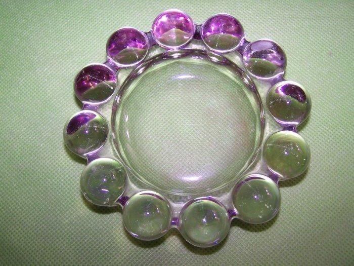 Heavy Pale Amethyst Lavendar Purple Awesome Ashtray Dish