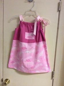 GIRL ARKANSAS RAZORBACKS Size 4-6 Dress Handmade New