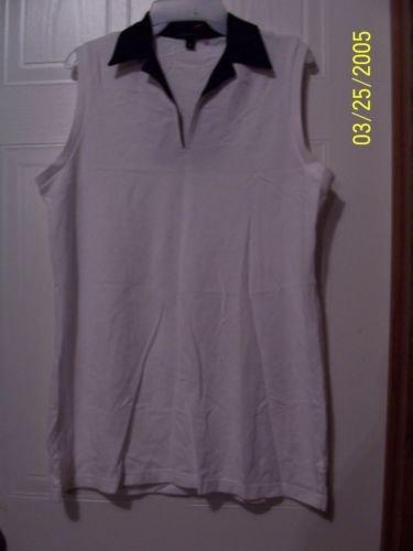 LANDS' End Ladies Medium (10-12) White Knitted Top  NWOT