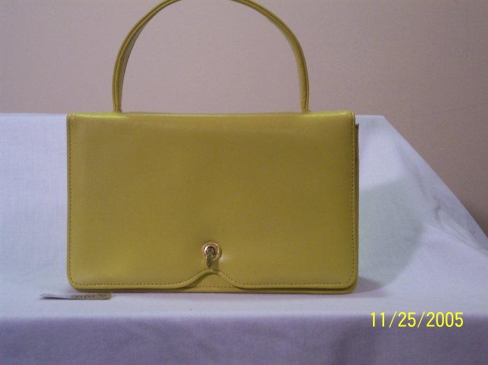 Cute little yellow-green rectangle handbag