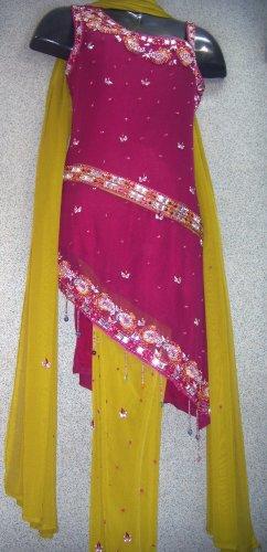 sr108 indo-western  belt churidar suit