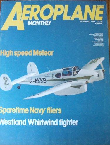 Aeroplane Feb 1985 Westland Whirlwind Ju52 Meteor Vickers Viget